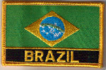 Brazil Embroidered Flag Patch, style 09.